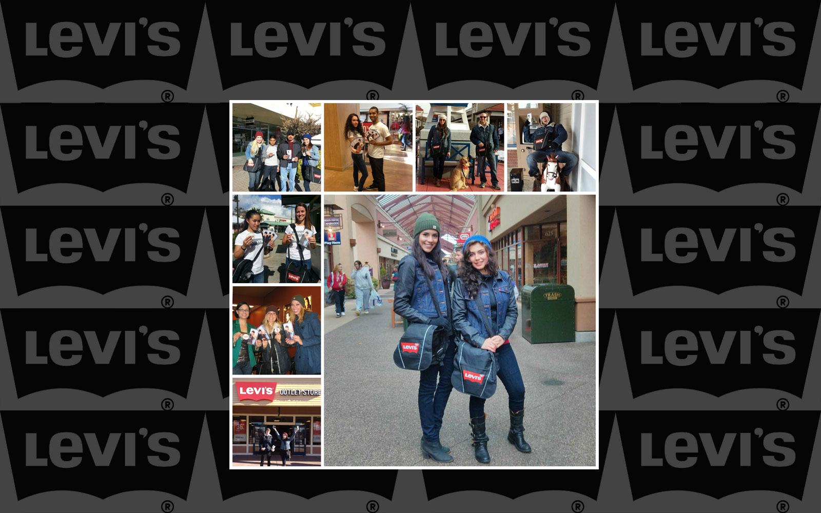 On Tour 24/7 Brand Ambassadors working a nationwide holiday campaign for Levi's