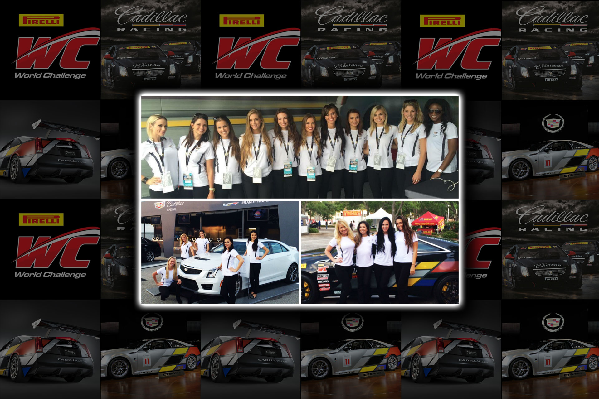 On Tour 24/7 Promotional Models working the 2015 Pirelli World Challenge in the United Stated and Canada